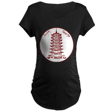Chinese Takeout Box Maternity Dark T-Shirt