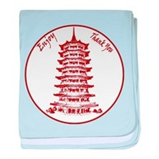 Chinese Takeout Box baby blanket