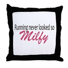 Running never looked so Milfy Throw Pillow