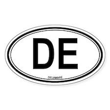 Delaware (DE) euro Oval Decal