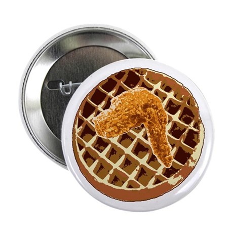 """Chicken and Waffle 2.25"""" Button"""