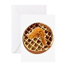 Chicken and Waffle Greeting Card