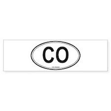 Colorado (CO) euro Bumper Bumper Sticker