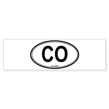 Colorado (CO) euro Bumper Sticker