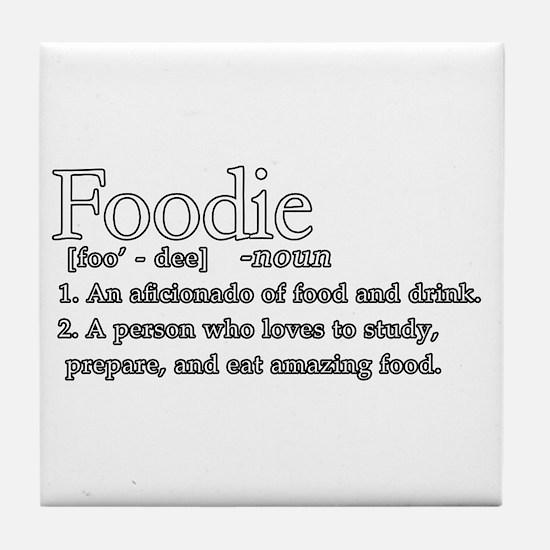 Foodie Defined Tile Coaster