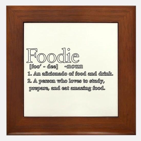Foodie Defined Framed Tile