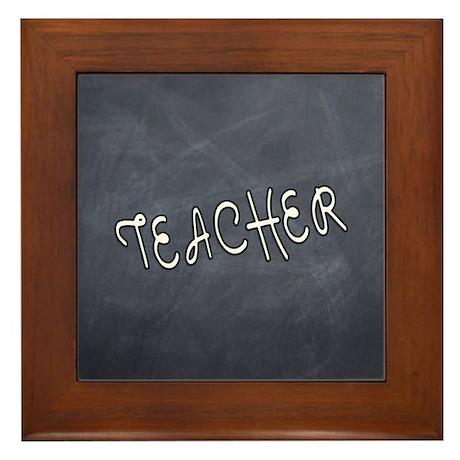 Teachers Blackboard Framed Tile