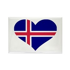 Iceland flag Rectangle Magnet (100 pack)