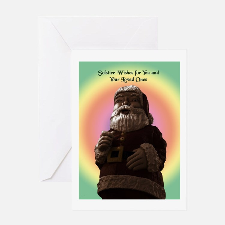 Solstice Wishes Santa Greeting Card