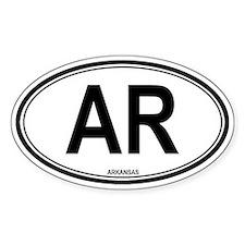 Arkansas (AR) euro Oval Decal