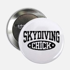 """Skydiving Chick 2.25"""" Button"""