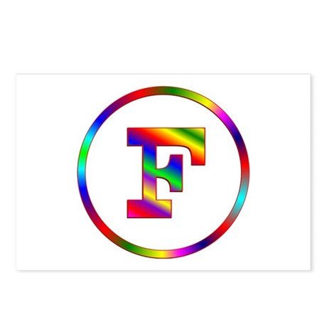 Letter F Postcards (Package of 8)