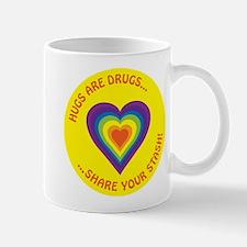 Cute Hugs not drugs Mug
