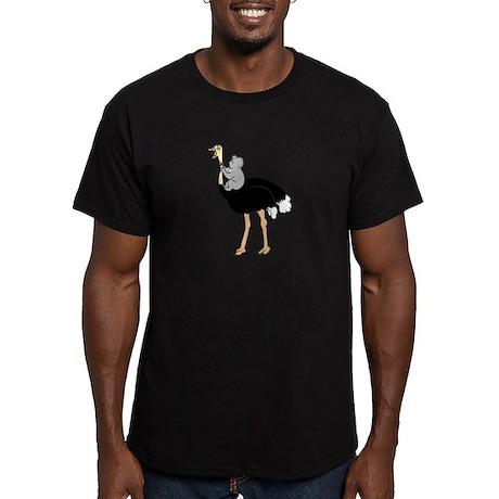 Koala vs Ostrich Men's Fitted Shirt (dark colors)