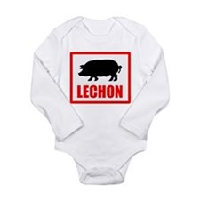 Lechon Long Sleeve Infant Bodysuit