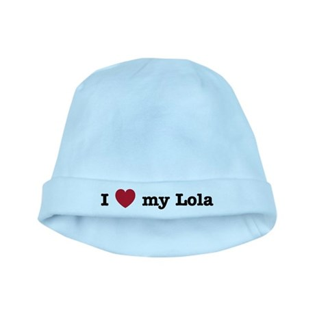 I Love My Lola baby hat