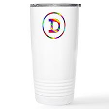 Letter D Travel Coffee Mug