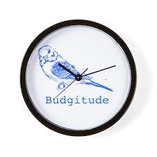 Funny Blue budgie Wall Clock