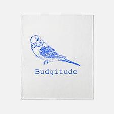 Cute Budgerigars Throw Blanket