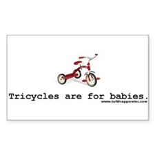 Taildraggers, Inc. Tricycle Sticker (Rectangular)
