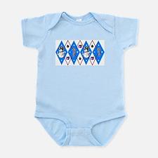 Blue & Red Argyle Infant Bodysuit