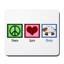 Peace Love Sheep Mousepad