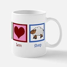 Peace Love Sheep Mug