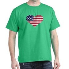 US flag heart T-Shirt