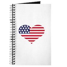 US flag heart Journal