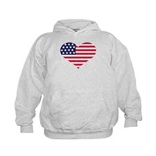 US flag heart Hoodie