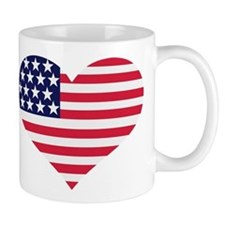 US flag heart Mug