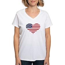 US flag heart Shirt