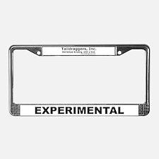 EXPERIMENTAL License Plate Frame