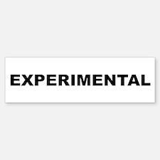 EXPERIMENTAL Bumper Bumper Sticker