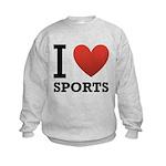 I Love Sports Kids Sweatshirt
