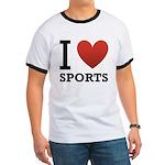 I Love Sports Ringer T