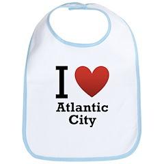 I Love Atlantic City Bib