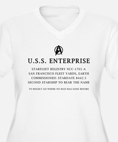 U.S.S. Enterprise Plaque T-Shirt
