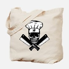 Chef Skull--B&W-- Tote Bag