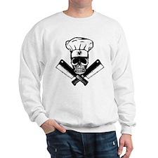 Chef Skull--B&W-- Sweatshirt