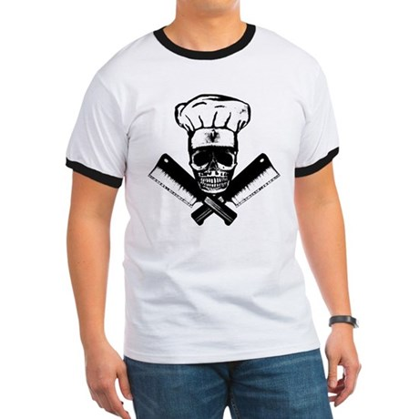 Chef Skull--B&W-- Ringer T