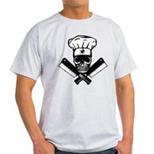 Chef Skull--B&W-- T-Shirt