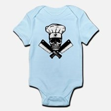 Chef Skull--B&W-- Infant Bodysuit