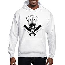 Chef Skull--B&W-- Hoodie Sweatshirt