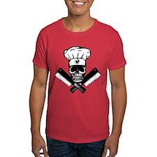 Chef Skull--B&W-- T-Shirt