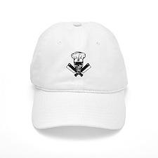 Chef Skull--B&W-- Baseball Cap