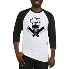 Chef Skull--B&W-- Baseball Jersey