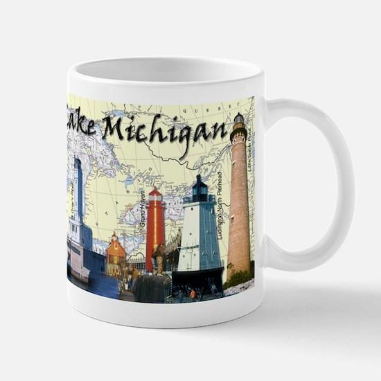 Lighthouses Of Lake Michigan Mug Mugs