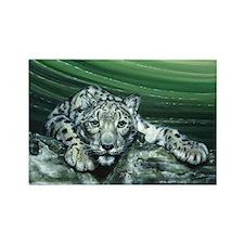 Snow Leopard Rectangle Magnet