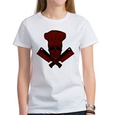Chef Skull--dark red-- Tee